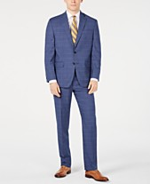 4dee5f483c7 Club Room Men s Classic-Fit Stretch Windowpane Sharkskin Suit
