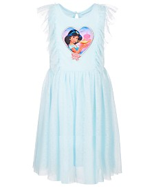 Disney Little Girls Clip Dot Jasmine Dress, Created for Macy's