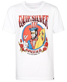 Quiksilver Big Boys Ride Free Roses Logo T-Shirt