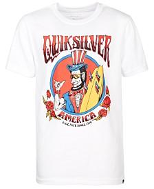 Quiksilver Big Boys Ride Free Roses Logo T-Shirt