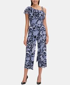 Tommy Hilfiger Paisley Floral One-Shoulder Jumpsuit