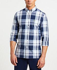 Lacoste Men's Slim-Fit Long Sleeve Poplin Plaid Shirt