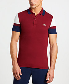 Lacoste Men's Slim-Fit Stretch Colorblocked Polo Shirt