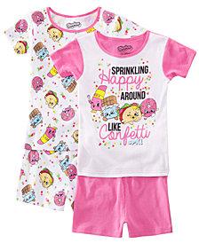 AME Little & Big Girls 2-Pack Shopkins Graphic Cotton Pajamas