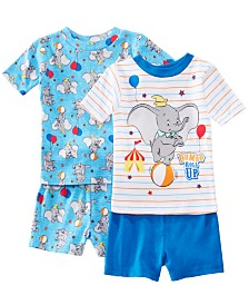 AME Toddler Boys 2-Pack Dumbo Graphic Cotton Pajamas