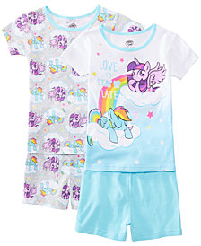AME Little & Big Girls 2-Pack My Little Pony Graphic Cotton Pajamas