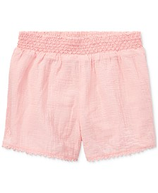 Polo Ralph Lauren Toddler Girls Smocked Cotton Shorts
