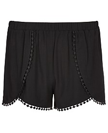 Epic Threads Big Girls Challis Crossover Shorts, Created for Macy's