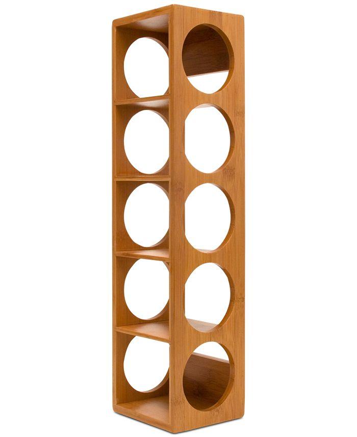 Lipper International - Bamboo Stacking 5-Bottle Wine Rack