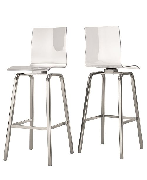 Miraculous Moore Clear Acrylic Swivel High Back Bar Stools Set Of 2 Forskolin Free Trial Chair Design Images Forskolin Free Trialorg