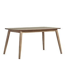 "Larvik Mid-Century Danish Modern Tapered 59"" Dining Table"