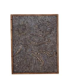 Rustic Metal Sunflower Wall Art