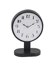 Rosemary Lane Modern Round Iron Table Clock