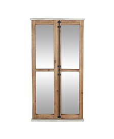 Rosemary Lane Farmhouse Rectangular Window Pane Wall Mirror