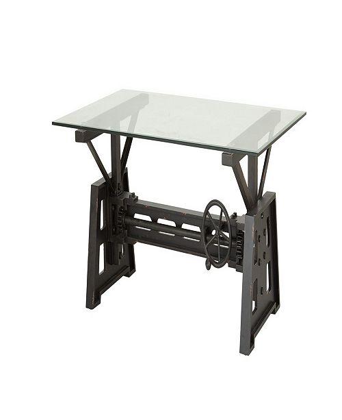 "Rosemary Lane Industrial 20"" x 47"" Gray Mechanical Coffee Table"