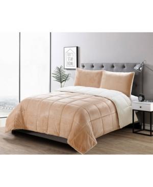 3 Piece Micromink Comforter Set, Full/Queen Bedding