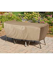 "Protective Vinyl Cover for Outdoor Bistro Sets - 30.71"" x 74.02"" x 8"""