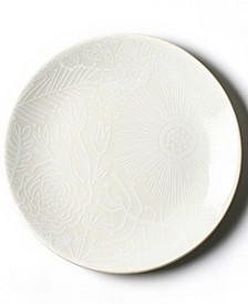 by Laura Johnson White Floral Salad Plate