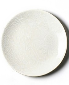 Coton Colors White Floral Salad Plate