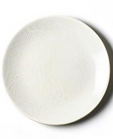 Coton Colors White Floral Salad Plate