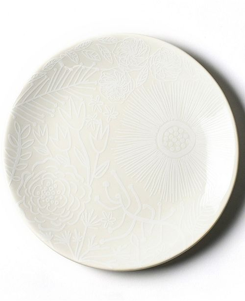 Coton Colors by Laura Johnson White Floral Salad Plate