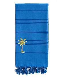 Summer Fun Breezy Palm Tree Pestemal Beach Towel