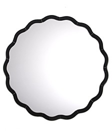 Black Scallop Wall Mirror