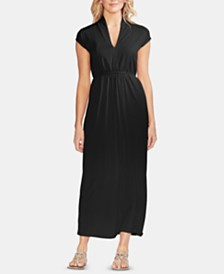 Vince Camuto Tie-Waist Cap-Sleeve Maxi Dress