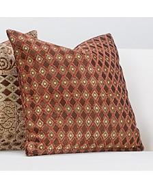 """Siscovers Double Diamond 16"""" Designer Throw Pillow"""