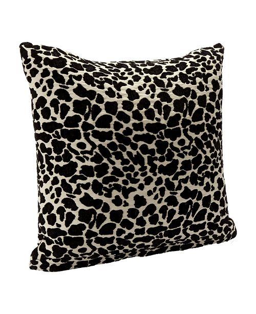 "Siscovers Big Cat Black Animal Print 26"" Designer Euro Throw Pillow"