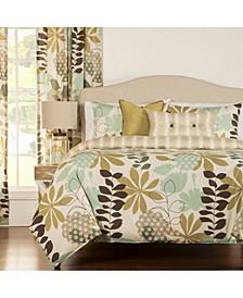 English Garden Reversible Floral 6 Piece Full Size Luxury Duvet Set