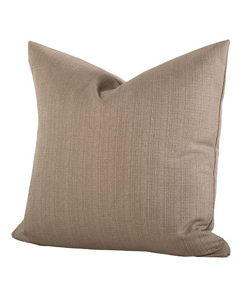 "Siscovers Linen Flax 20"" Designer Throw Pillow"