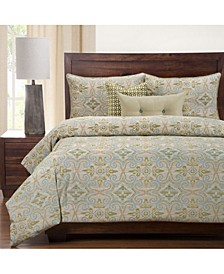 Sumatra Citron 6 Piece Full Size Luxury Duvet Set