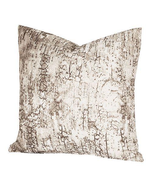 "Siscovers Birch Bark 20"" Designer Throw Pillow"