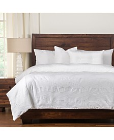 Siscovers Cabo White 6 Piece Cal King High End Duvet Set