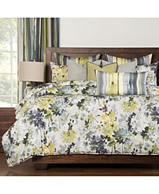 Summer Set Plum 6 Piece Queen Luxury Duvet Set