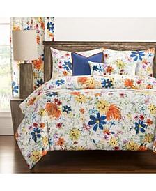 Modern Meadow 6 Piece Full Size Luxury Duvet Set