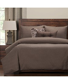 Pologear Saddleback Brown 6 Piece Cal King High End Duvet Set