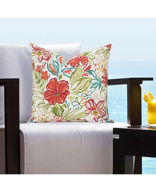"Siscovers Palm Island Indoor-Outdoor 26"" Designer Euro Throw Pillow"