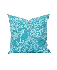 """Siscovers Seacoral Inddor-Outdoor 16"""" Designer Throw Pillow"""