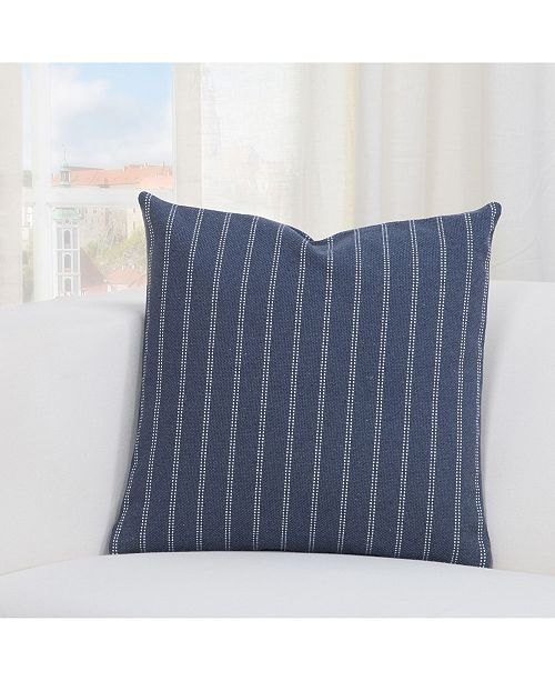 "Siscovers Burlap pologear Indio go Ticked Stripe 16"" Designer Throw Pillow"