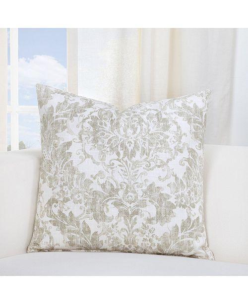 """Siscovers Parlour Drift Linen 26"""" Designer Euro Throw Pillow"""