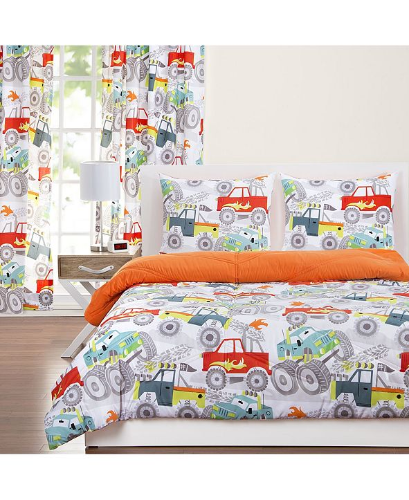 Crayola Four Wheelin' 6 Piece King Luxury Duvet Set
