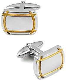 Sutton Sterling Silver Cufflinks With Gold Trim