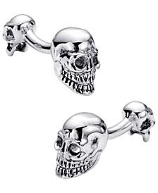 Sutton Sterling Silver Double Sided Skull Cufflinks