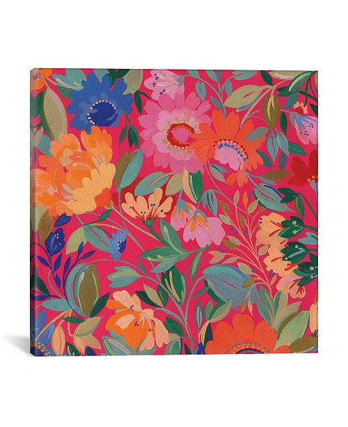 """iCanvas """"Mexican Garden"""" By Kim Parker Gallery-Wrapped Canvas Print - 26"""" x 26"""" x 0.75"""""""