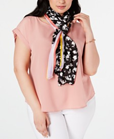 Calvin Klein Ditsy Floral Silk Scarf