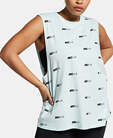 Plus Size Cotton Logo-Print Muscle Tank Top