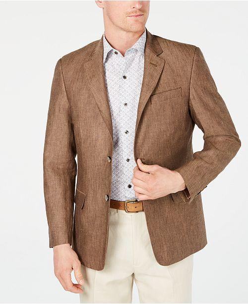 2a5a7a98a07 ... Tasso Elba Men s 100% Linen 2-Button Blazer