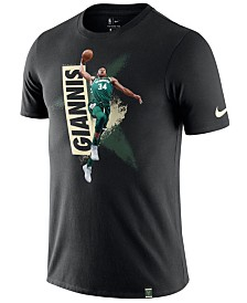 Nike Men's Giannis Antetokounmpo Milwaukee Bucks Dry Mezzo Player Photo T-Shirt